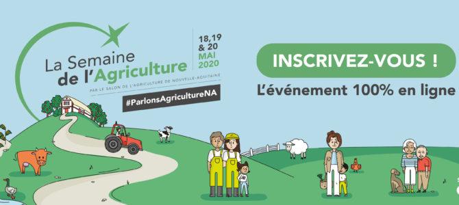 SEMAINE DE L'AGRICULTURE 100% en ligne