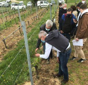 Le Préfet de la Dordogne, en visite dans le vignoble le 29 avril,